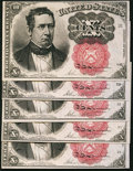 Fractional Currency:Fifth Issue, Fr. 1266 10¢ Fifth Issue Five Examples Choice About New or Better..... (Total: 5 notes)