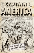 Original Comic Art:Covers, Ken Bald (attributed) Captain America Comics #68 CoverOriginal Art (Timely, 1948)....