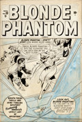 Original Comic Art:Covers, Syd Shores Blonde Phantom #20 Cover Original Art (Timely,1948)....