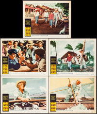 "The Old Man and the Sea & Others Lot (Warner Brothers, 1958). Lobby Cards (12) (11"" X 14""). Adventure..."