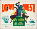 "Movie Posters:Comedy, Love Nest (20th Century Fox, 1951). Half Sheet (22"" X 28"").Comedy.. ..."