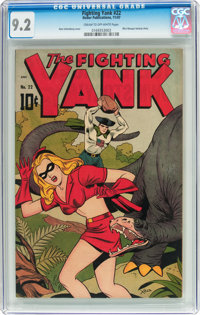 Fighting Yank #22 (Nedor Publications, 1947) CGC NM- 9.2 Cream to off-white pages
