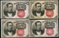 Fractional Currency:Fifth Issue, Fr. 1266 10¢ Fifth Issue Four Examples.. ... (Total: 4 notes)