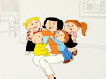 Animation Art:Production Cel, The Family Circus Sears Television Commercial Production Celand Matching Animation Drawing Group of 5 (1980's).... (Total: 5Original Art)