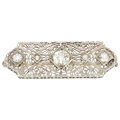 Estate Jewelry:Brooches - Pins, Diamond, White Gold Brooch. . ...