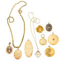 Estate Jewelry:Lots, Multi-Stone, Diamond, Seed Pearl, Gold, Gold-Filled Jewelry. . ...(Total: 9 Items)