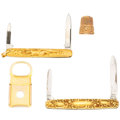 Estate Jewelry:Lots, Gold Accessories. . ... (Total: 4 Items)