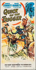 """Movie Posters:Western, Quick on the Trigger (Columbia, 1948). Three Sheet (41"""" X 80""""). Western.. ..."""