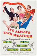 """Movie Posters:Musical, It's Always Fair Weather (MGM, 1955). One Sheet (27"""" X 41"""") & Lobby Card Set of 8 (11"""" X 14""""). Musical.. ... (Total: 9 Items)"""