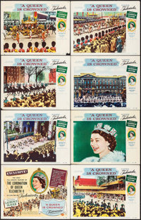 """A Queen is Crowned (Rank, 1953). Lobby Card Set of 8 (11"""" X 14""""). Documentary. ... (Total: 8 Items)"""