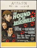 "Movie Posters:Mystery, The Hound of the Baskervilles (20th Century Fox, 1939). JumboWindow Card (22"" X 28""). Mystery.. ..."