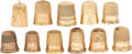 Estate Jewelry:Other, Gold Thimbles. . ... (Total: 11 Items)