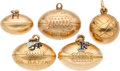 Estate Jewelry:Lots, Enamel, Gold, Gold-Filled Charms. . ... (Total: 5 Items)