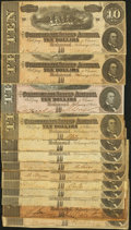 Confederate Notes:1864 Issues, T68 $10 1864 Thirteen Examples.. ... (Total: 13 notes)