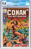Bronze Age (1970-1979):Adventure, Conan the Barbarian #1 (Marvel, 1970) CGC VF/NM 9.0 Off-white to white pages....