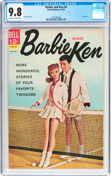 Barbie and Ken #4 (Dell, 1963) CGC NM/MT 9.8 Off-white to white pages....