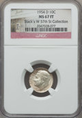 Roosevelt Dimes, 1954-D 10C MS67 Full Bands NGC. Ex: Stack's W 57th St Collection. NGC Census: (52/1). PCGS Population: (47/0). Mintage 106...