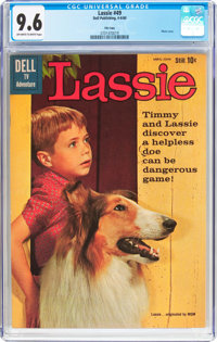Lassie #49 File Copy (Dell, 1960) CGC NM+ 9.6 Off-white to white pages