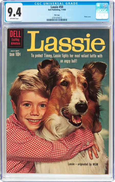 Lassie #50 File Copy (Dell, 1960) CGC NM 9.4 Off-white pages....