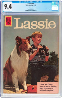 Lassie #56 File Copy (Dell, 1962) CGC NM 9.4 Off-white pages
