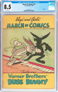 Golden Age (1938-1955):Funny Animal, March of Comics #75 Bugs Bunny (K. K. Publications, Inc., 1951) CGCVF+ 8.5 Off-white pages....