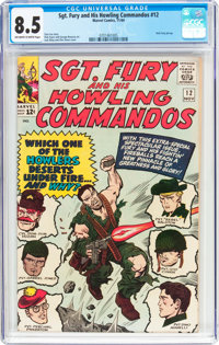 Sgt. Fury and His Howling Commandos #12 (Marvel, 1964) CGC VF+ 8.5 Off-white to white pages