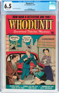 Golden Age (1938-1955):Crime, Whodunit #1 (D.S. Publishing, 1948) CGC FN+ 6.5 Off-white pages....