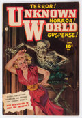 Golden Age (1938-1955):Horror, Unknown World #1 (Fawcett Publications, 1952) Condition: VG+....