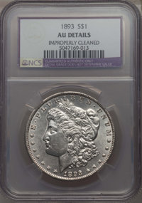 1893 $1 -- Improperly Cleaned -- NCS. AU Details. NGC Census: (276/3167). PCGS Population: (426/4964). CDN: $300 Whsle...
