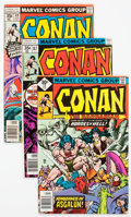 Bronze Age (1970-1979):Adventure, Conan the Barbarian Group of 59 (Marvel, 1977-90) Condition: Average VG.... (Total: 59 Comic Books)