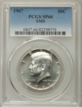 SMS Kennedy Half Dollars, 1967 50C SMS SP66 PCGS. PCGS Population: (968/699). Mintage 1,800,000....