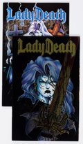 Modern Age (1980-Present):Alternative/Underground, Lady Death #1 and 2 Group (Chaos! Comics, 1994) Condition: AverageVF.... (Total: 2 Comic Books)
