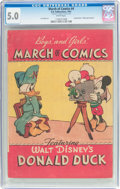 Golden Age (1938-1955):Funny Animal, March of Comics #4 Donald Duck (K. K. Publications, Inc., 1947) CGC VG/FN 5.0 White pages....