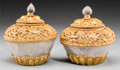 Decorative Arts, Continental:Other , A Pair of Rock Crystal and Gilt Bronze-Mounted Covered Jars, 21stcentury. 5-1/8 inches high (13.0 cm). ... (Total: 2 Items)