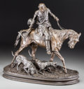 Fine Art - Sculpture, European:Antique (Pre 1900), After Pierre Jules Mene (French, 1810-1879). Hunter astride withdogs. Bronze with brown patina . 16 inches (40.6 cm) hi...