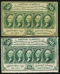 Fractional Currency:First Issue, 50¢ Perforated First Issue.. ... (Total: 2 notes)
