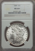 Morgan Dollars: , 1889 $1 MS64+ NGC. NGC Census: (16358/2341 and 119/27+). PCGS Population: (11964/2550 and 277/115+). CDN: $72 Whsle. Bid fo...