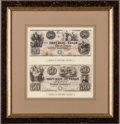 Miscellaneous, Republic of Texas Red Back Notes (2). ...