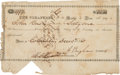 Autographs:Statesmen, Texas Declaration Signer Asa Brigham Signed Treasury Warrant....