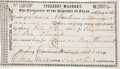 Miscellaneous, Treasury Warrant for Payment to Edward Burleson ...