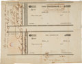 Miscellaneous, Unengrossed and Uncut Pay Certificates with Autograph EndorsementSigned by George W. Poe at Paymaster General....