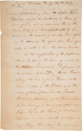 Miscellaneous, [Jim Bowie]. William King Autograph Letter Signed....