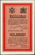 Miscellaneous:Other, World War II European Theatre Safe Conduct Pass.. ...