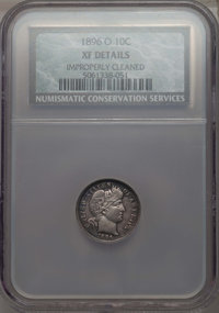 1896-O 10C -- Improperly Cleaned -- NCS. XF Details. NGC Census: (6/40). PCGS Population: (15/78). CDN: $345 Whsle. Bid...