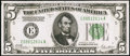 Fr. 1952-E $5 1928B Dark Green Seal Federal Reserve Note. Choice About Uncirculated