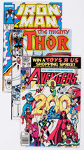 Modern Age (1980-Present):Miscellaneous, Marvel Modern Age Short Box Group (Marvel, 1980s-90s) Condition: Average VF....
