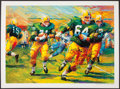 "Football Collectibles:Others, Jerry Kramer Signed ""Packers Sweep"" Green Bay Packers Lithograph - With Inscribed Lombardi Quote! ..."
