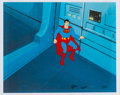 Animation Art:Production Cel, Super Friends Superman Production Cel (Hanna-Barbera, c.1970s-1980s).. ...