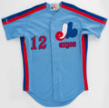 Baseball Collectibles:Uniforms, 1989 Mark Langston Game Worn Montreal Expos Jersey. ...