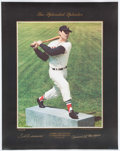 Baseball Collectibles:Photos, Ted Williams Signed Oversized Lithograph. ...